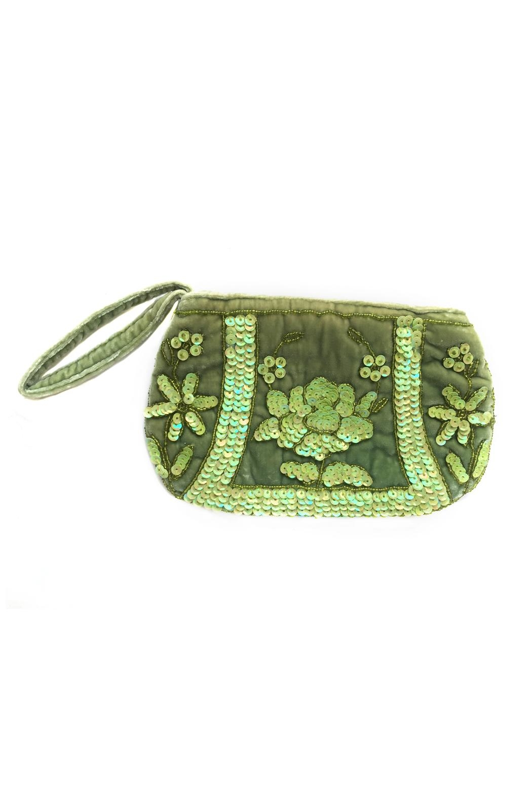 tu-anh boutique Beaded Velvet Clutches - Front Cropped Image