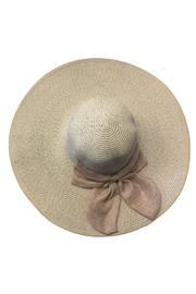 tu-anh boutique Beige Bow Sunhat - Front full body