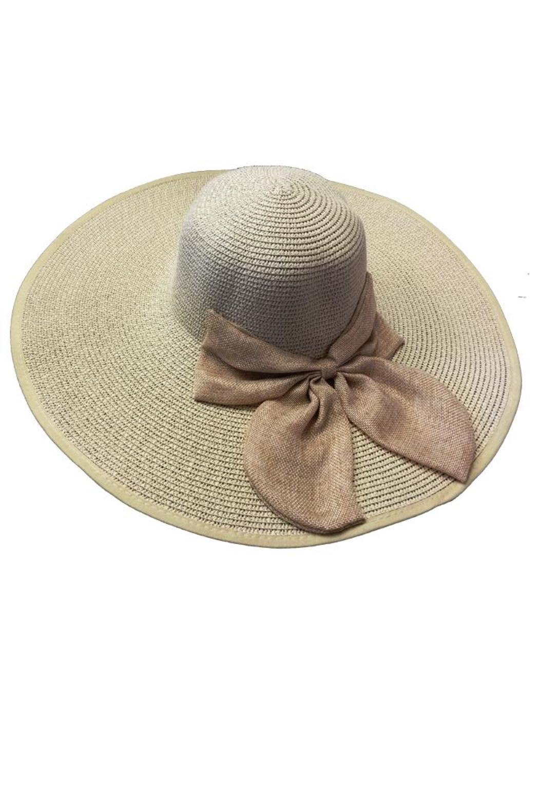 tu-anh boutique Beige Bow Sunhat - Main Image