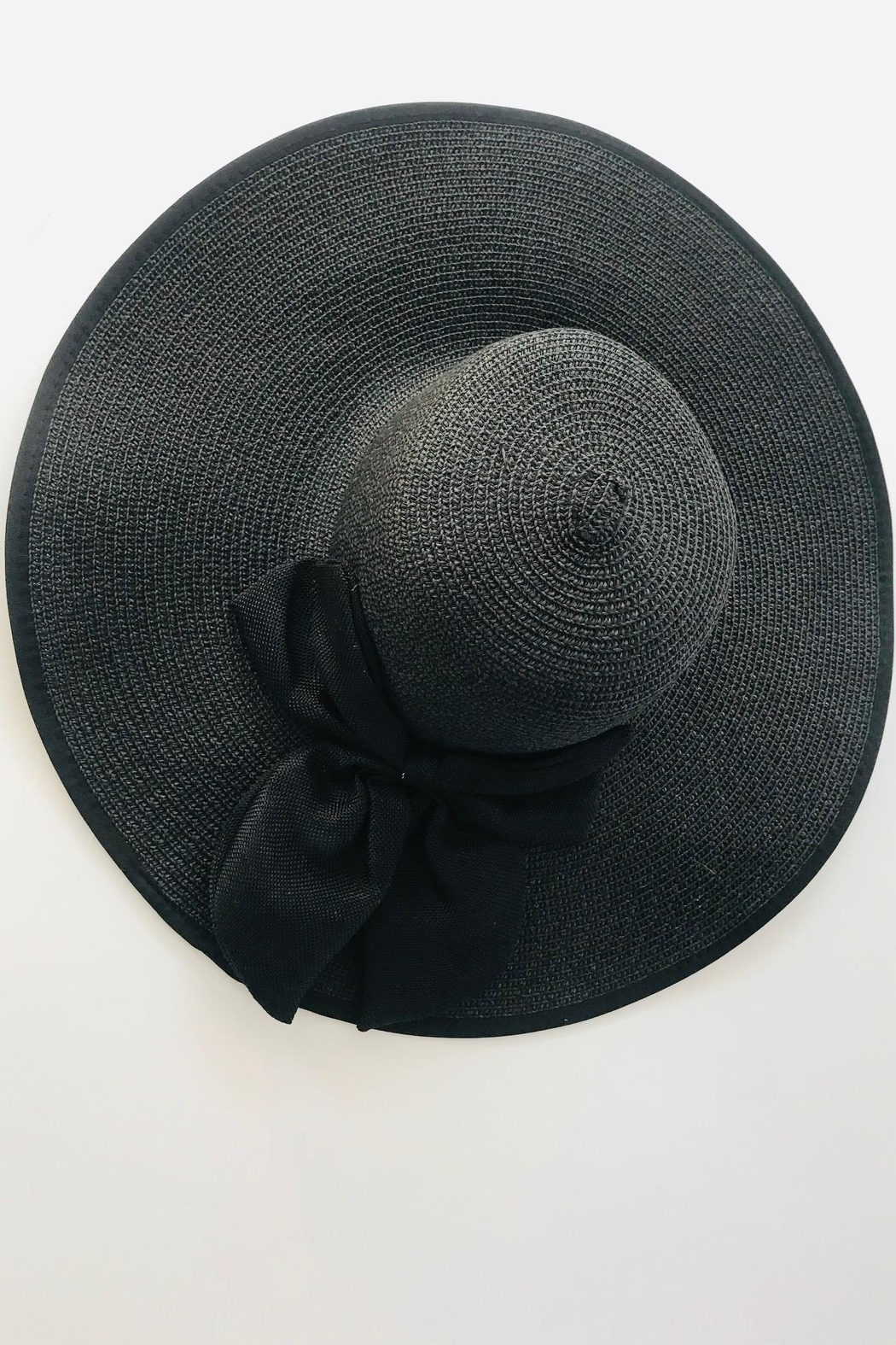 tu-anh boutique Black Bow Sunhat - Side Cropped Image