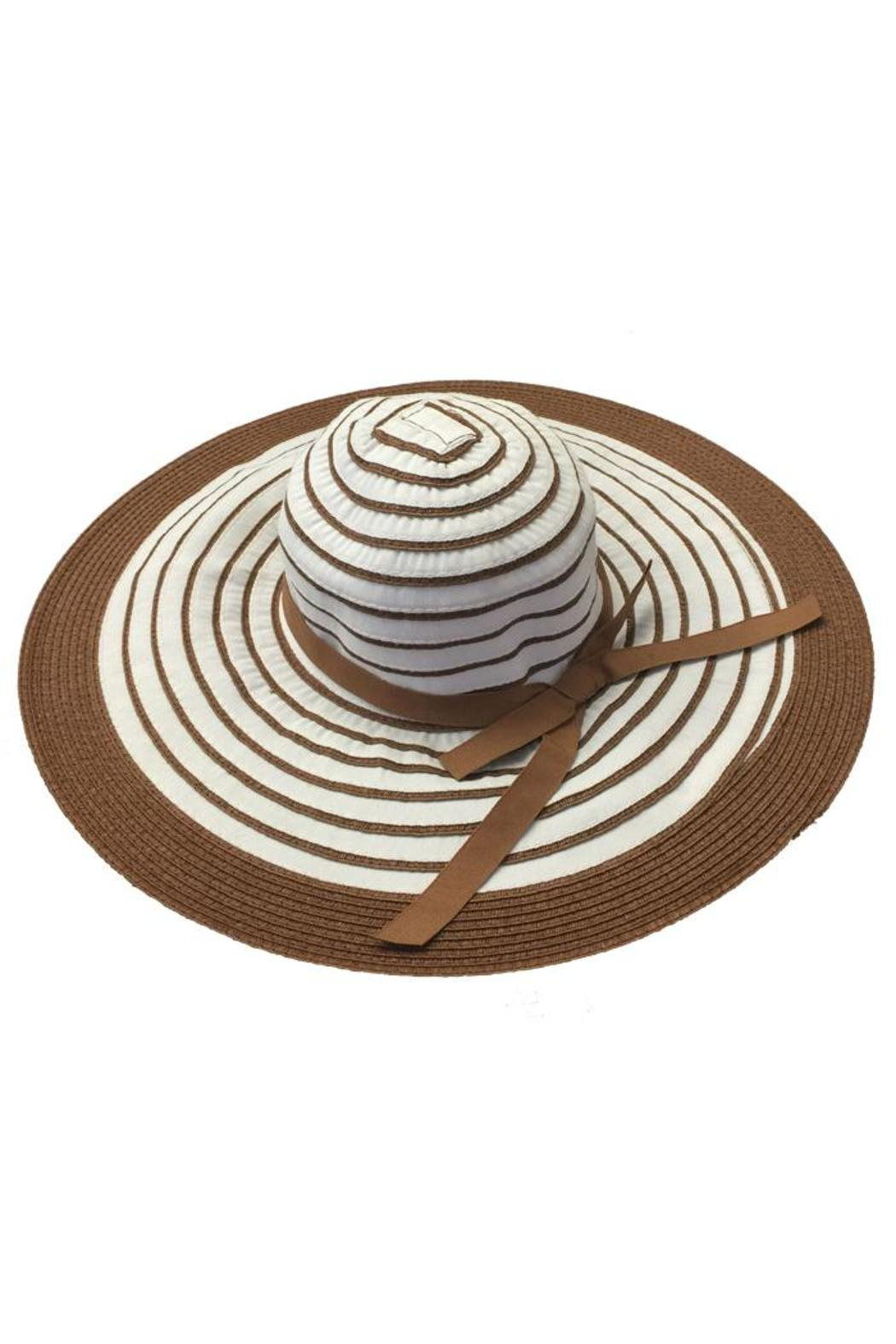 tu-anh boutique Brown Stripe Sunhat - Main Image