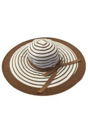 tu-anh boutique Brown Stripe Sunhat - Product Mini Image