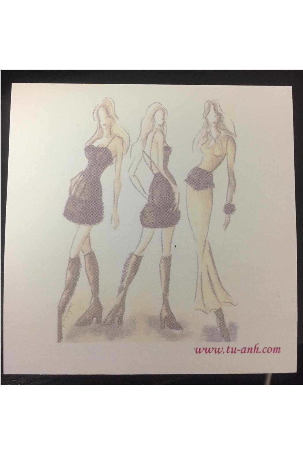 tu-anh boutique Fashion Sticky Notepads - Main Image
