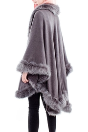 tu-anh boutique Faux Fur Poncho Cape - Front full body