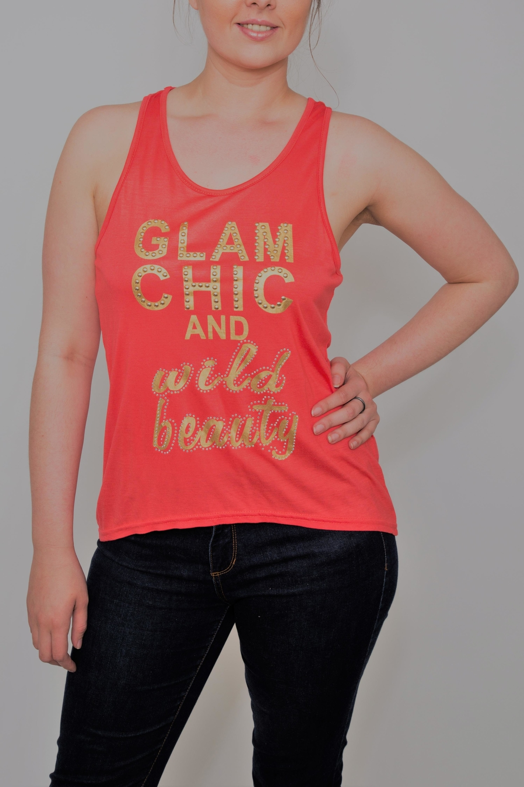 tu-anh boutique Glam Chic & Wild Beauty Tank Top - Main Image