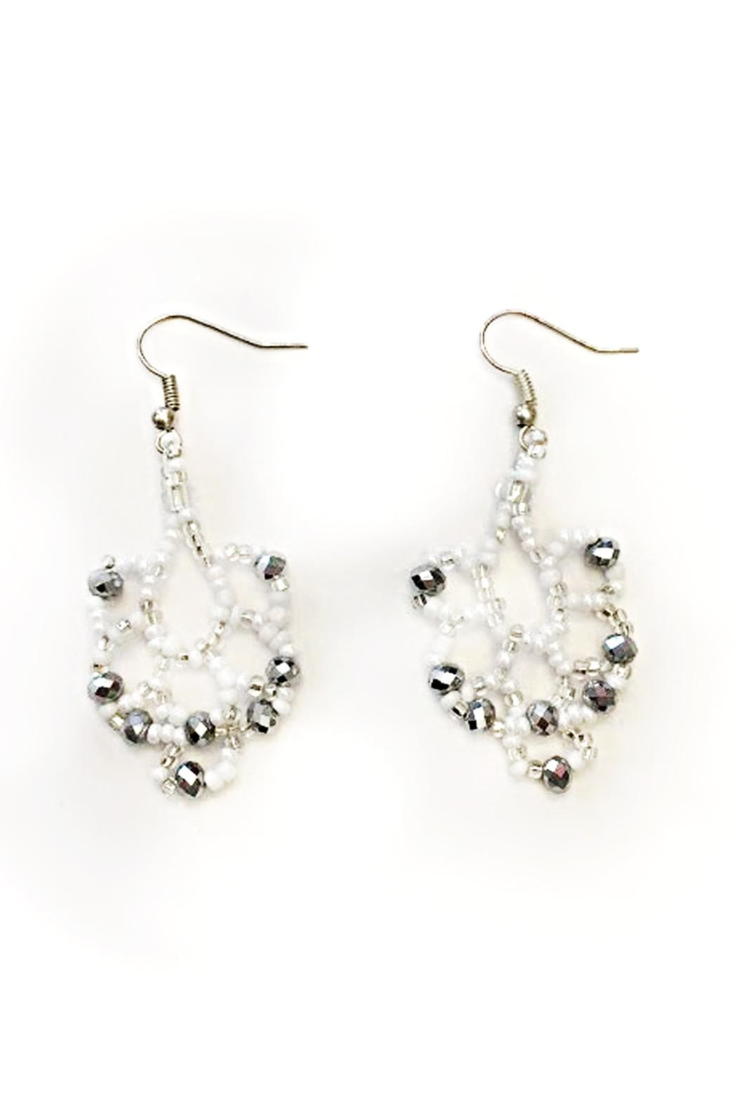 tu-anh boutique Goddess Chandelier Earrings - Front Cropped Image