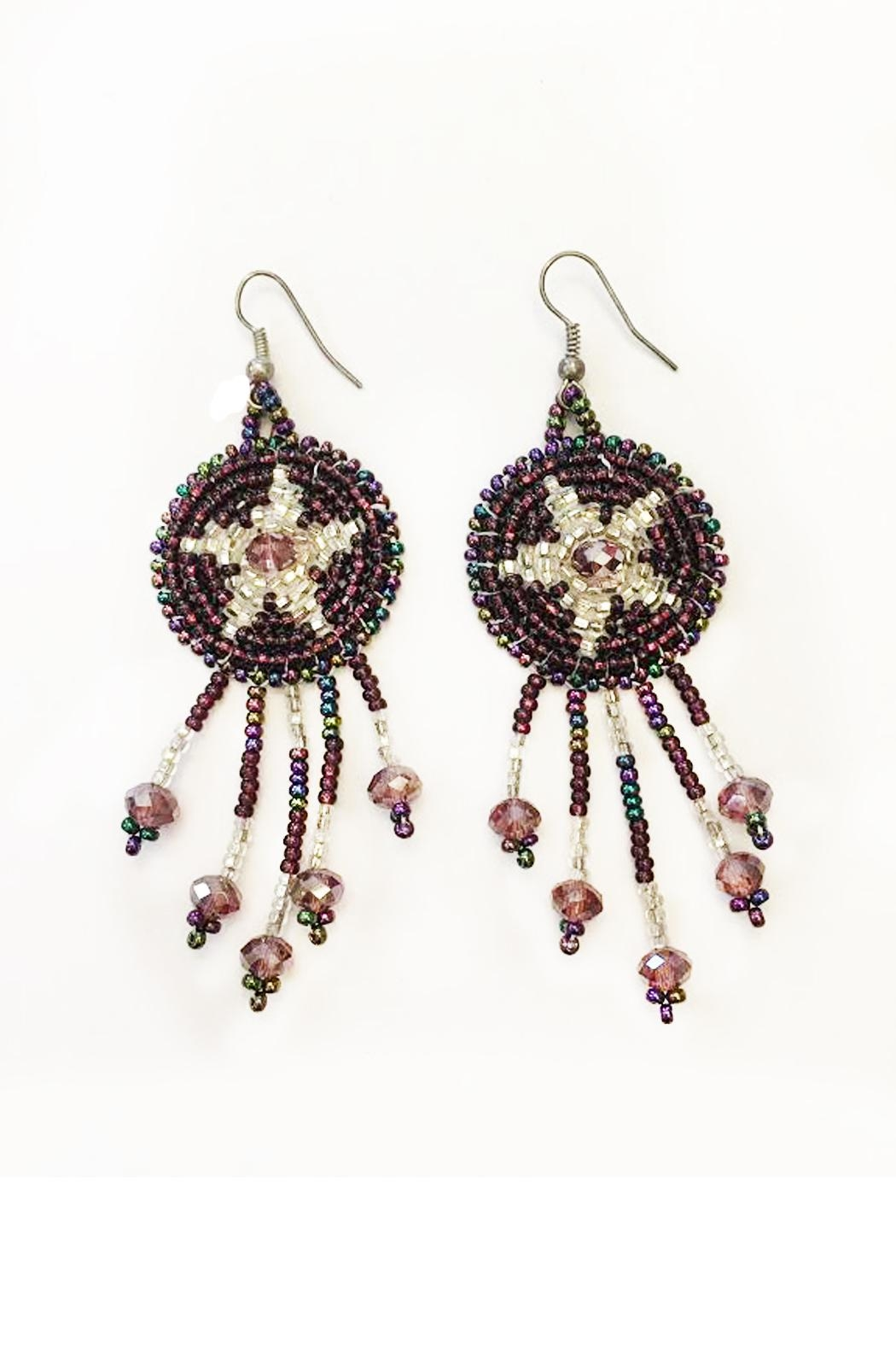 tu-anh boutique Goddess Star Earrings - Front Cropped Image