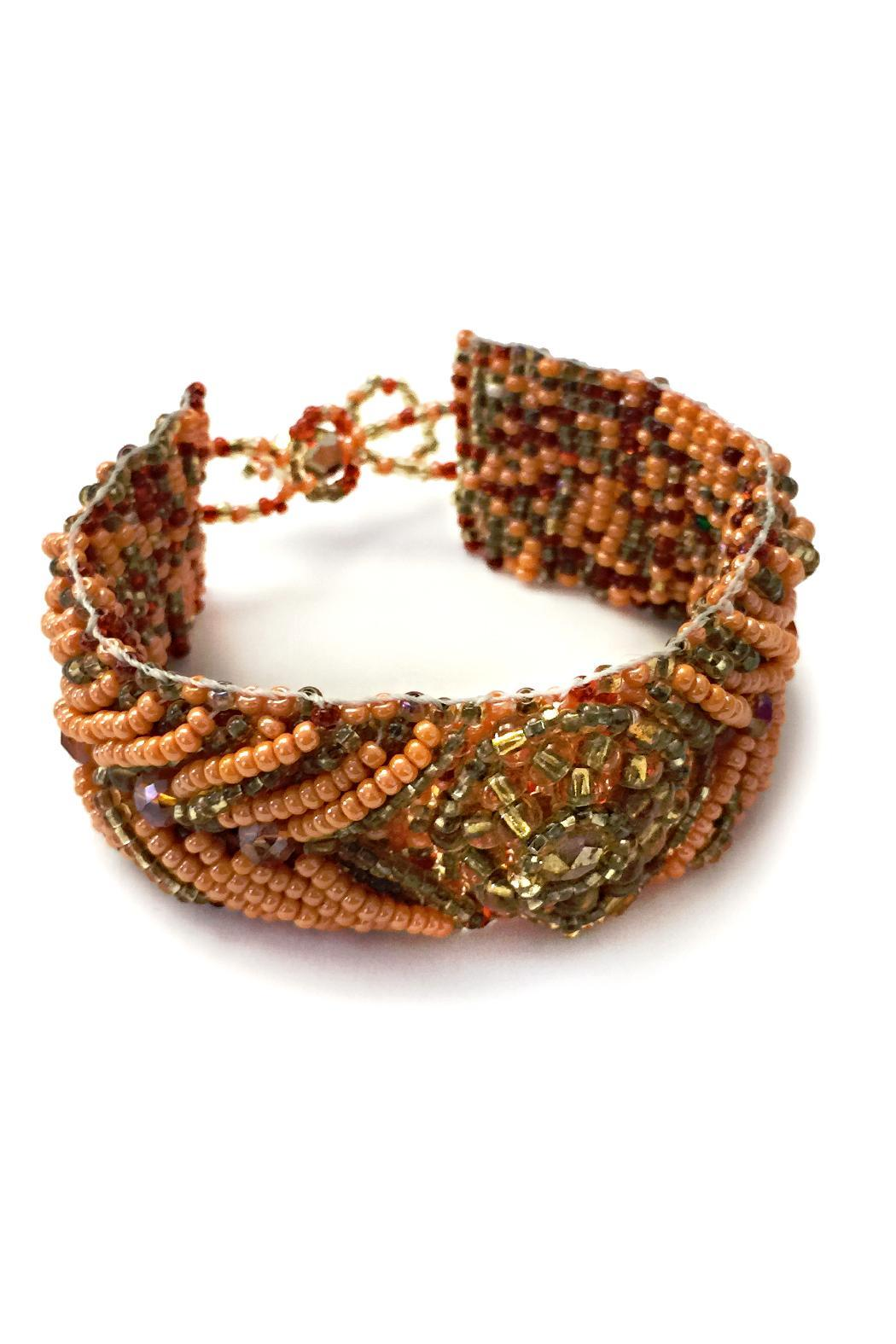 tu-anh boutique Hand-Beaded Orange Bracelet - Main Image