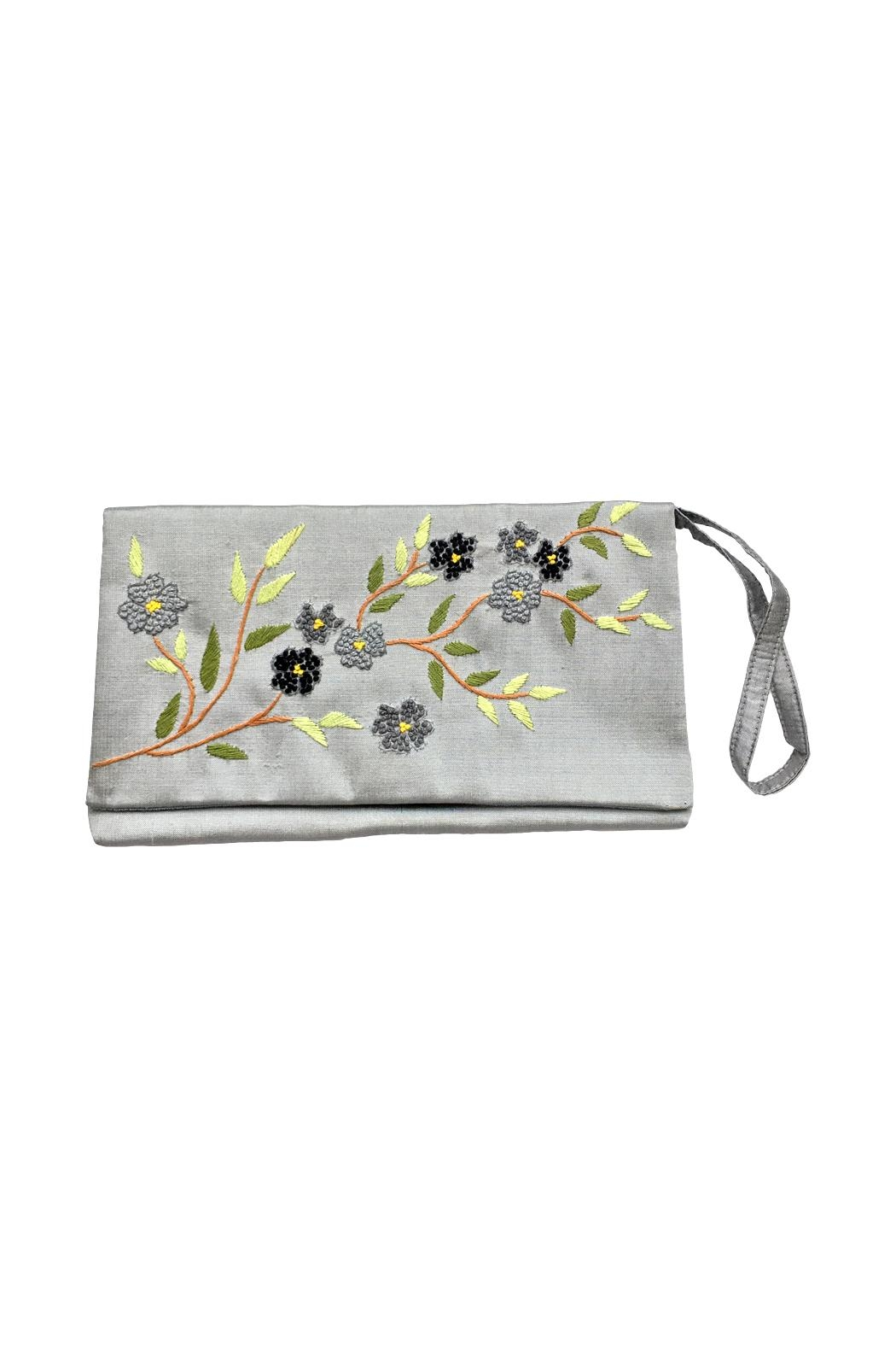 tu-anh boutique Hand Embroidered Clutch - Main Image