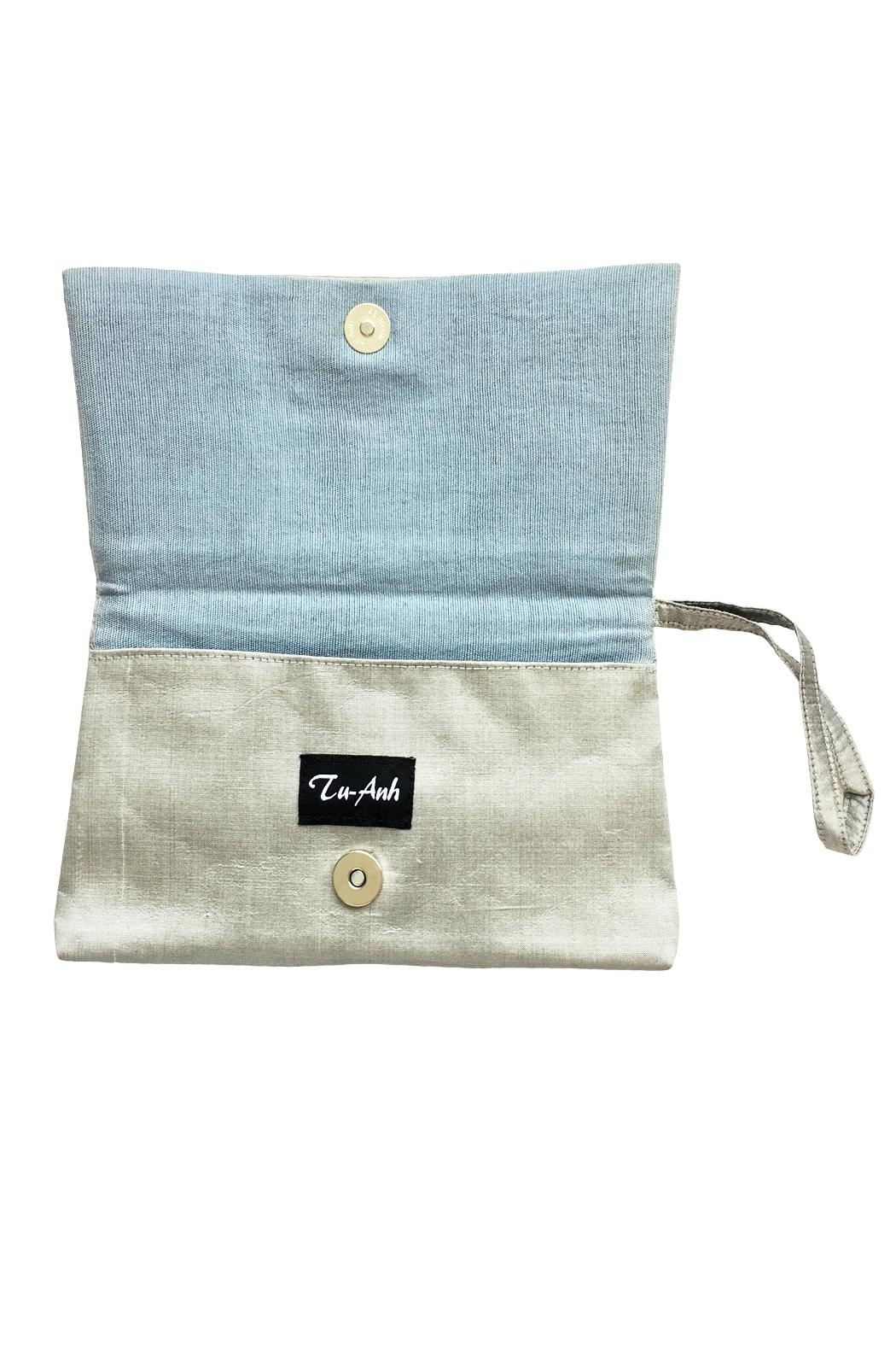 tu-anh boutique Hand Embroidered Clutch - Side Cropped Image
