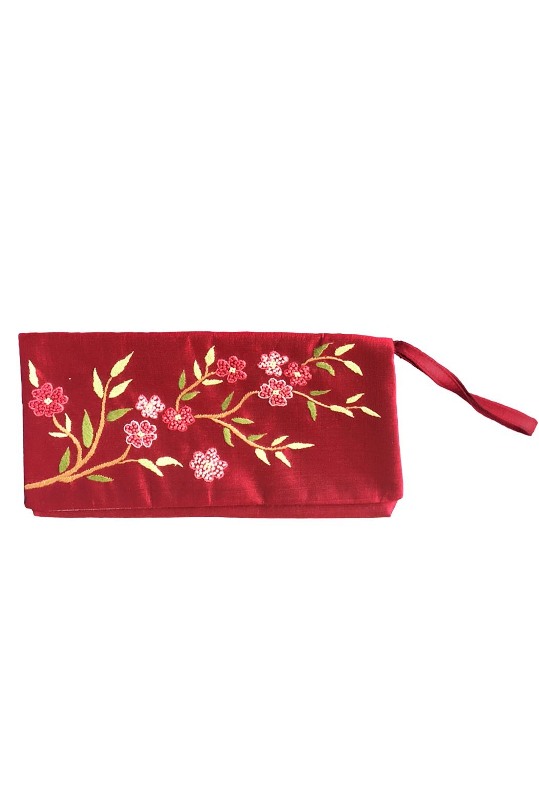tu-anh boutique Hand Embroidered Clutch - Front Cropped Image