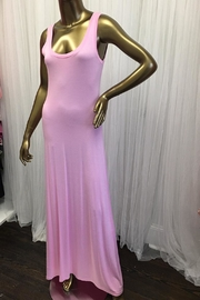 tu-anh boutique Light Pink Knit Maxi - Front cropped