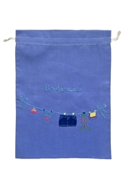 tu-anh boutique Linen Lingerie Bag - Front cropped