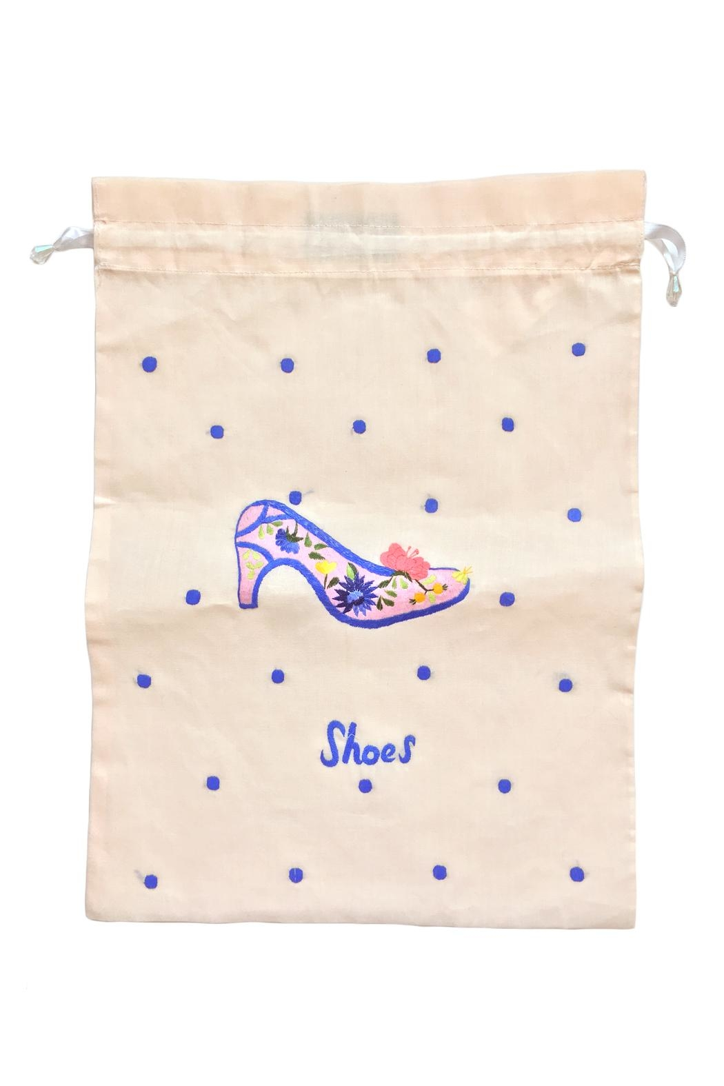 tu-anh boutique Linen Shoe Bag - Front Full Image