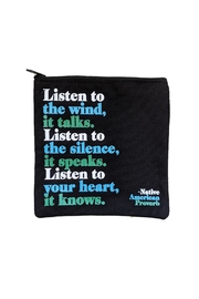 tu-anh boutique Listen To The Wind Zippered Pouch - Product Mini Image
