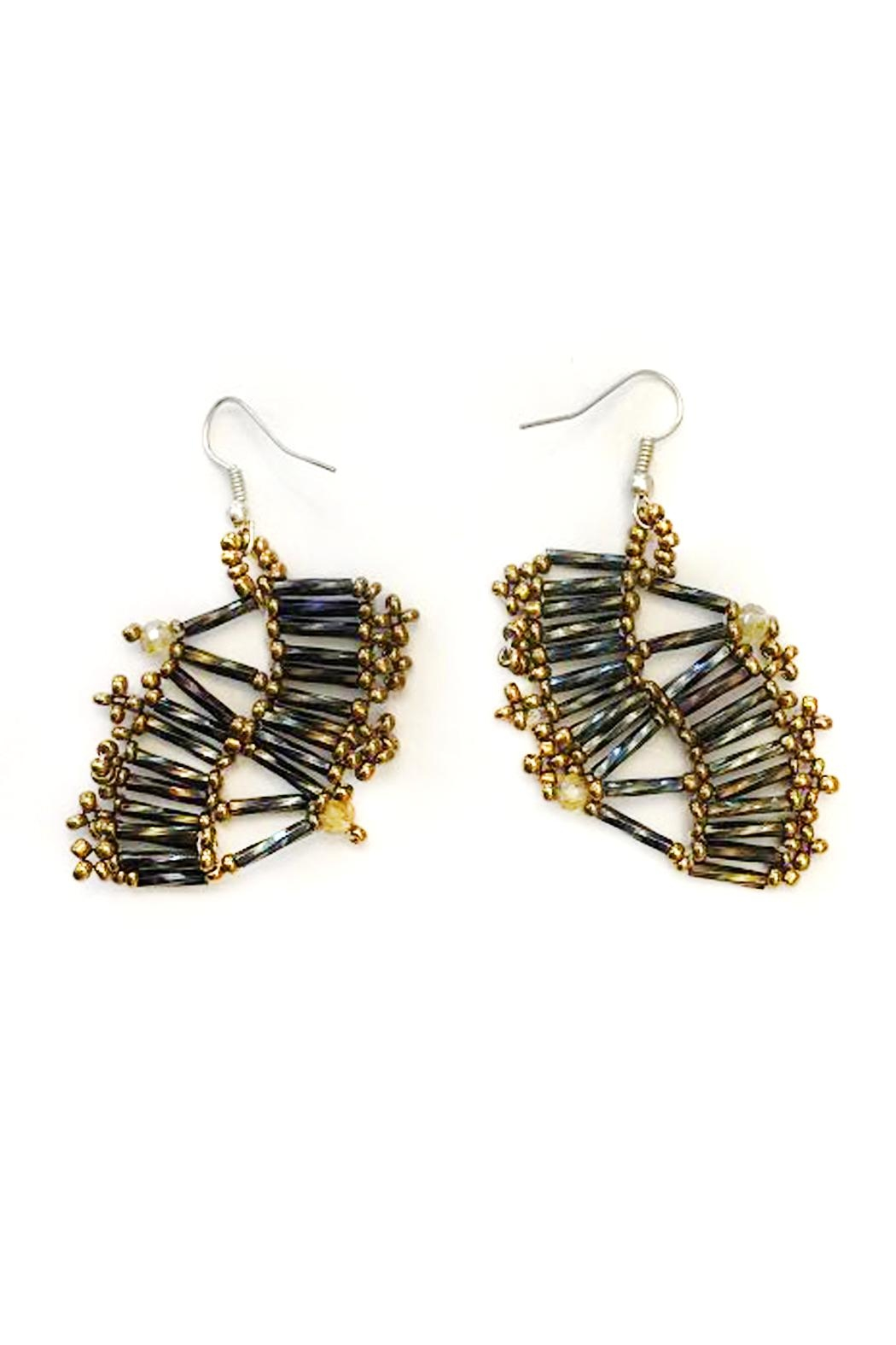 tu-anh boutique Mexican Goddess Earrings - Back Cropped Image