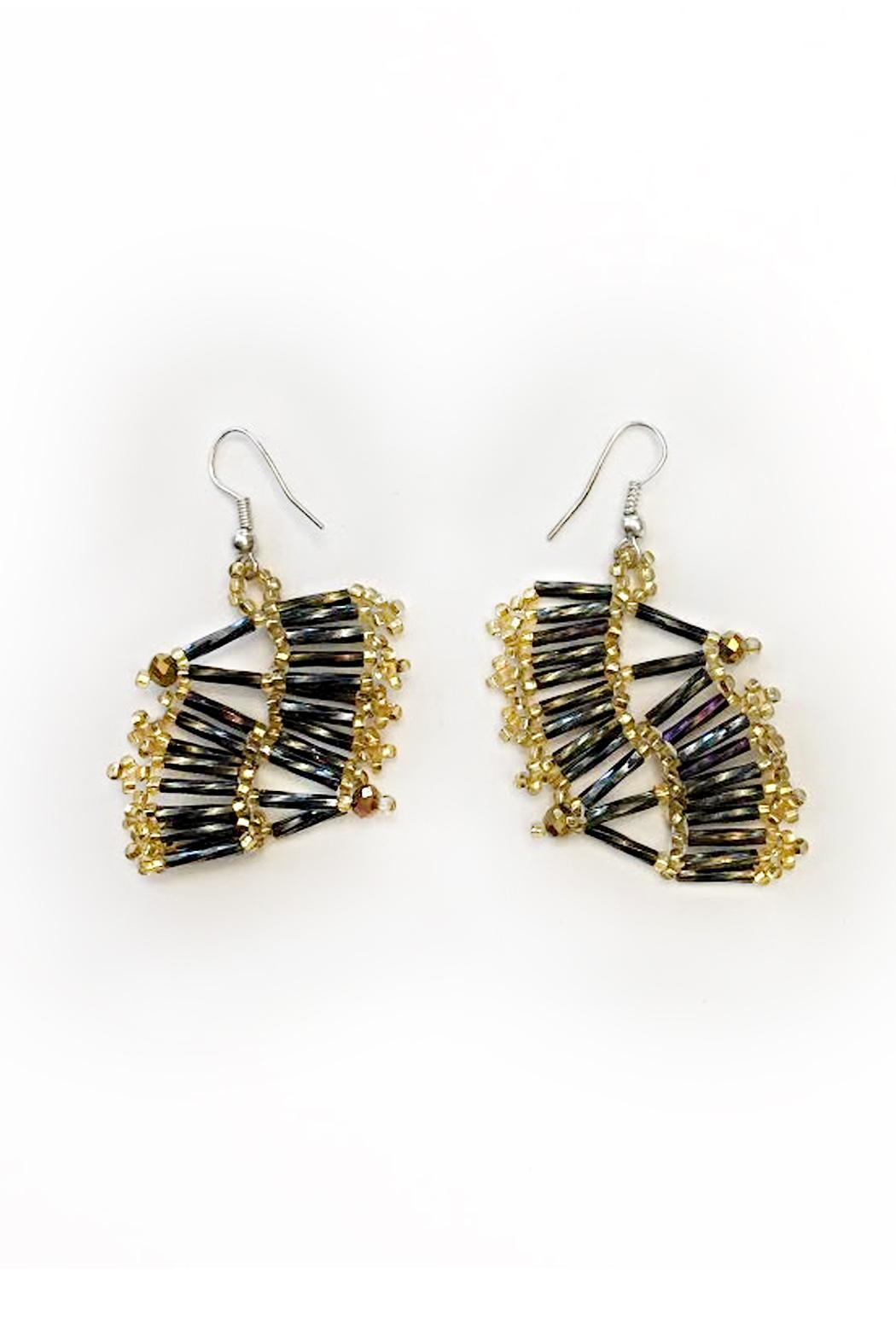 tu-anh boutique Mexican Goddess Earrings - Side Cropped Image