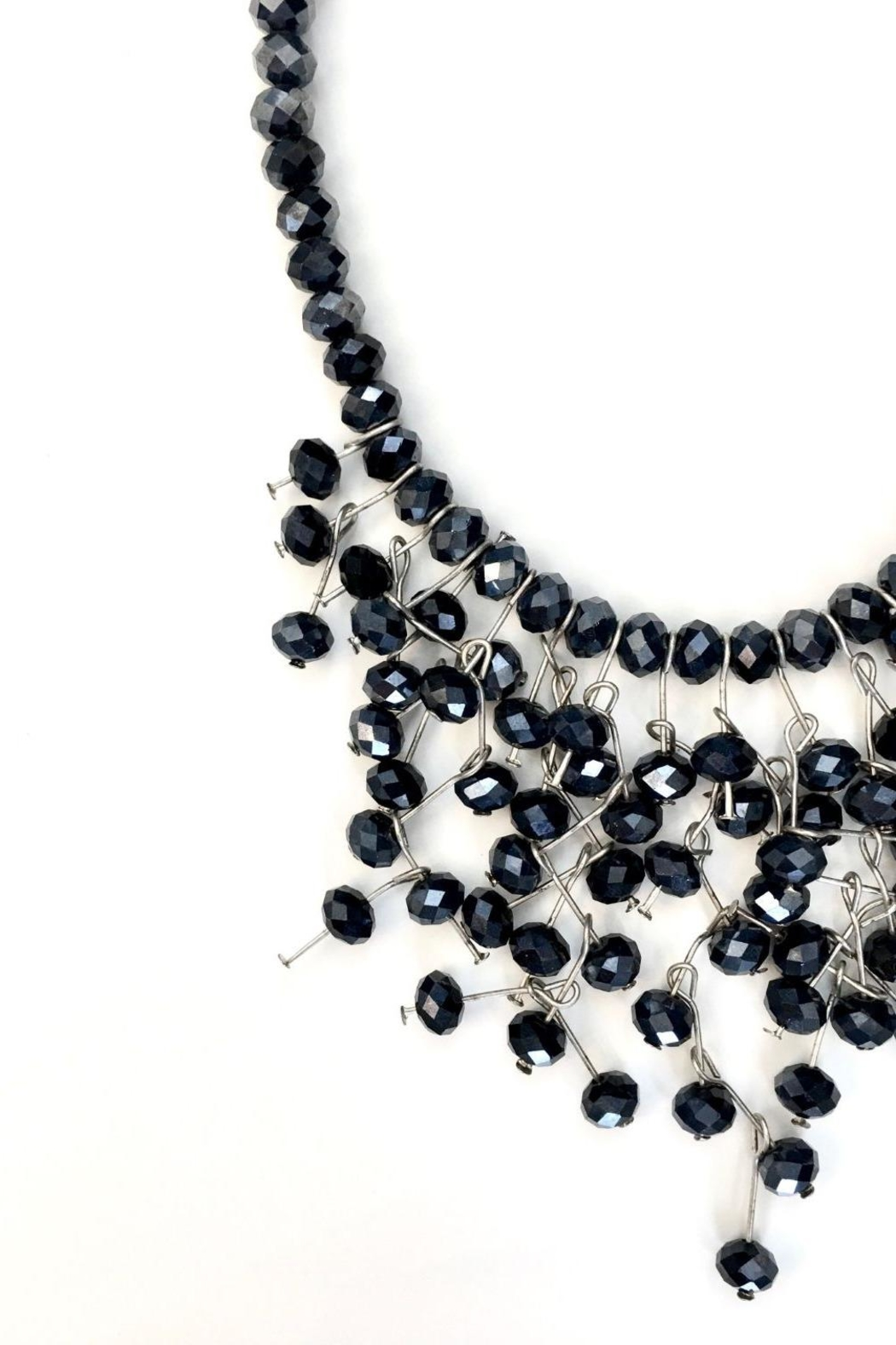 tu-anh boutique Navy Blue Crystal Necklace - Side Cropped Image