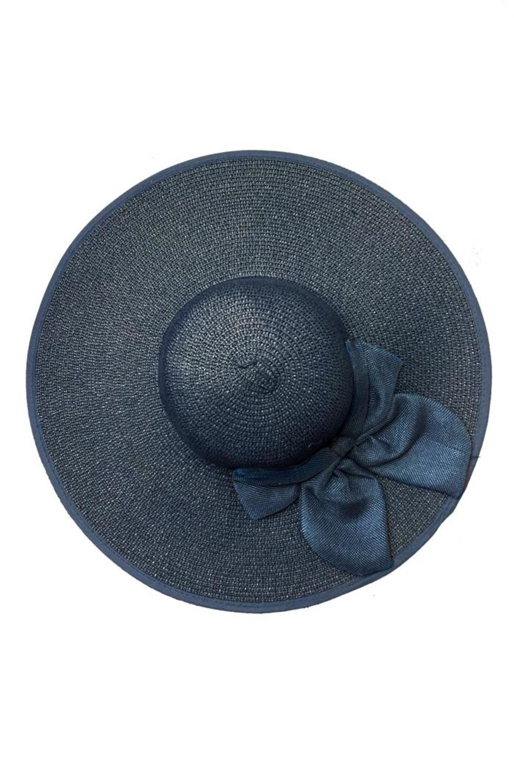 tu-anh boutique Navy Bow Sunhat - Front Full Image