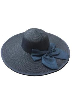 tu-anh boutique Navy Bow Sunhat - Product List Image