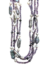 tu-anh boutique Pearl Layering Necklace - Front full body