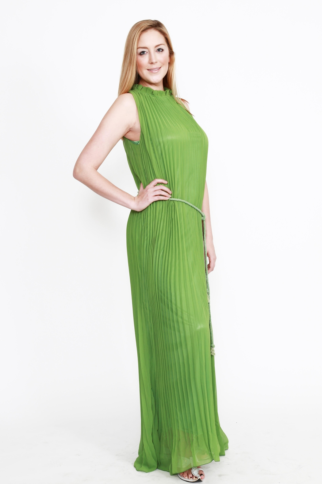 tu-anh boutique Pleated Goddess Dress - Main Image