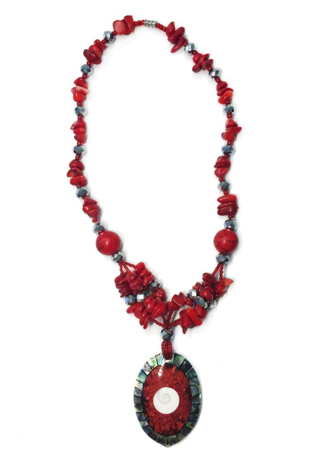 tu-anh boutique Red Pendant Necklace - Main Image