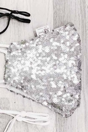 tu-anh boutique Sequin Face Mask - Front cropped
