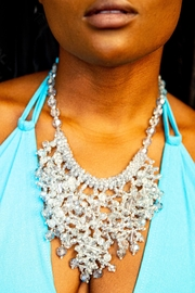 tu-anh boutique Sky Blue Crystal Necklace - Front full body