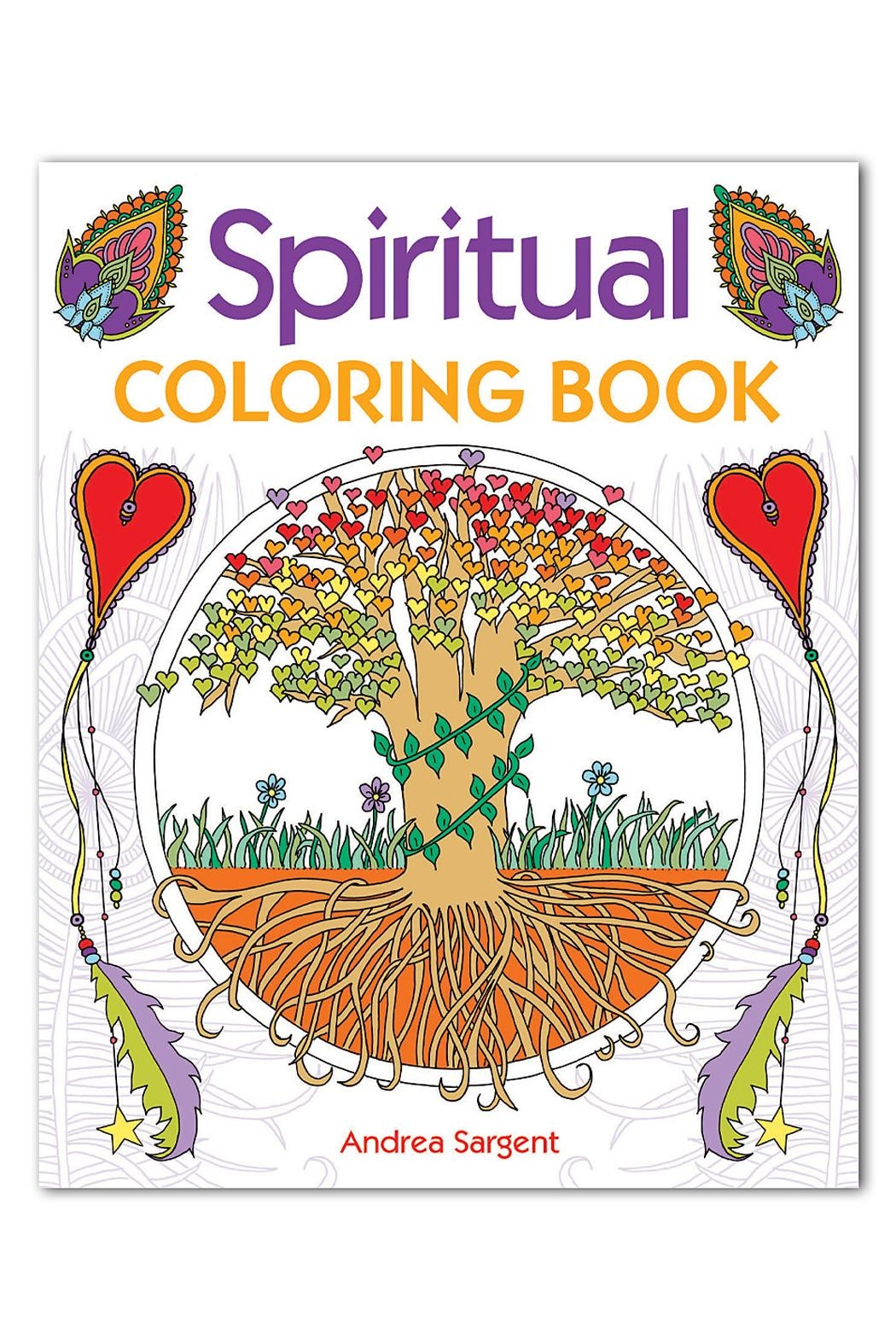 tu-anh boutique Spiritual Coloring Book - Front Cropped Image