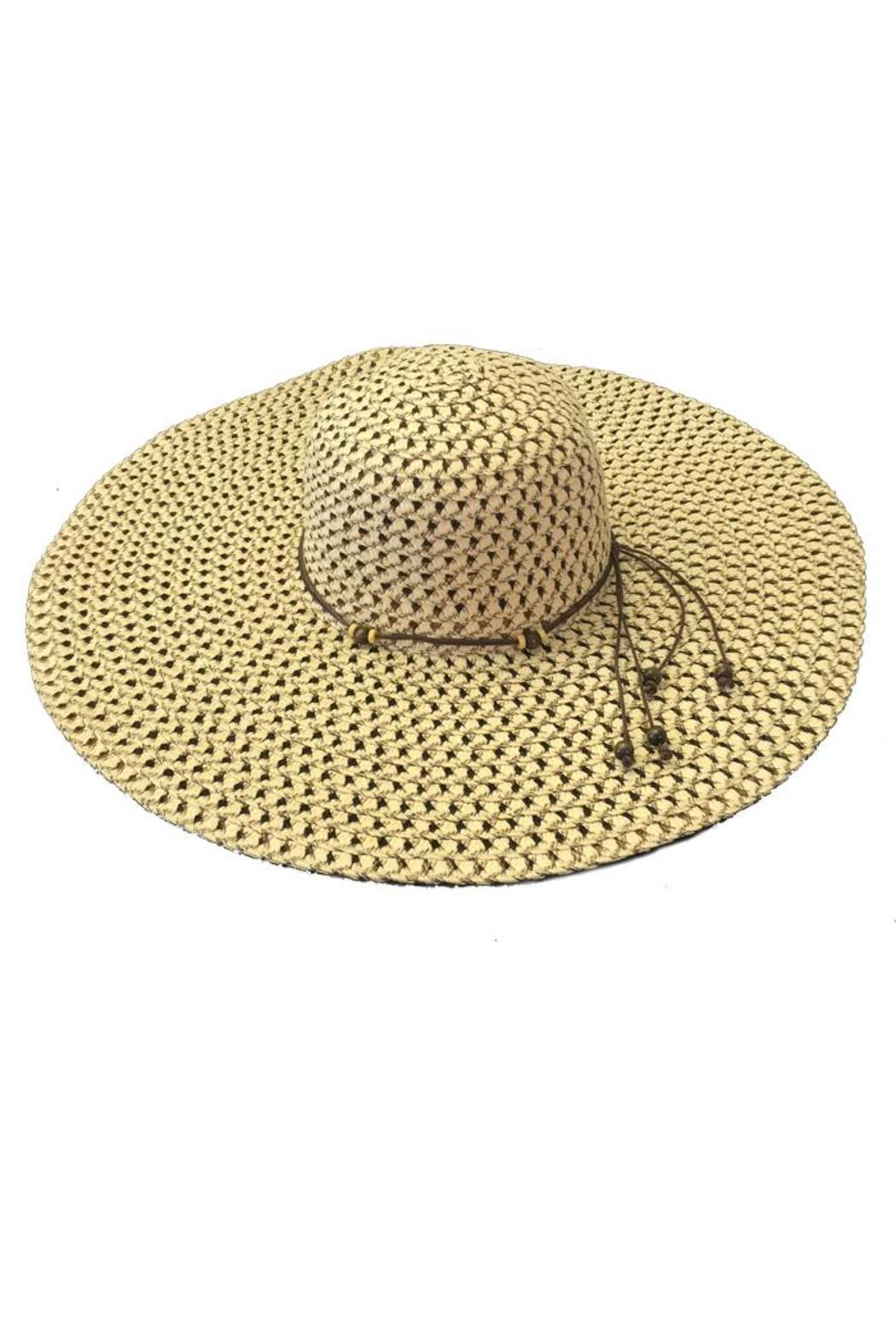 tu-anh boutique Tan Rope-Band Sunhat - Front Cropped Image