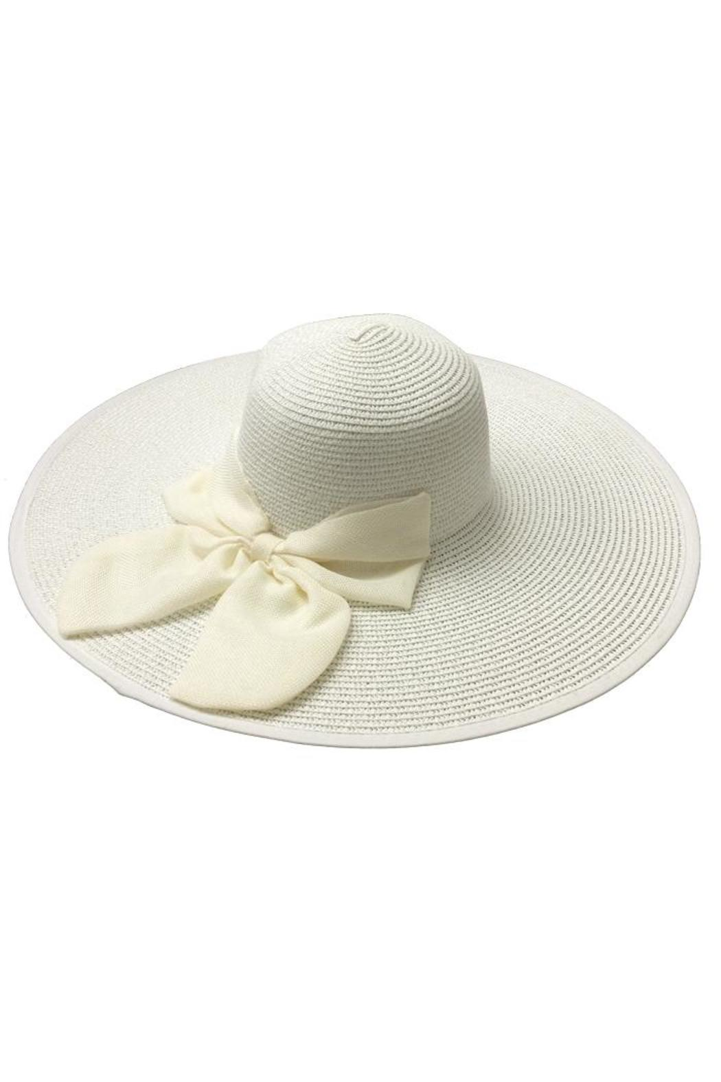 tu-anh boutique White Bow Sunhat - Main Image