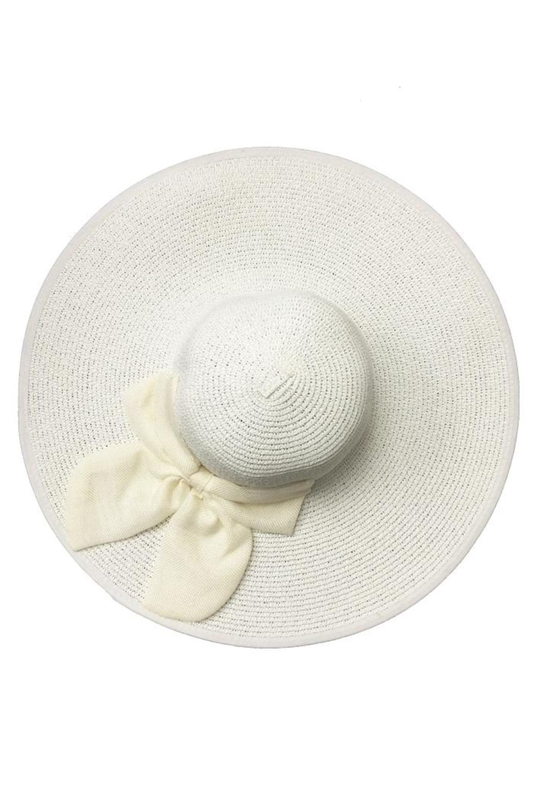 tu-anh boutique White Bow Sunhat - Front Full Image