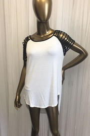 tu-anh boutique White Cage Sleeve Tee - Product Mini Image