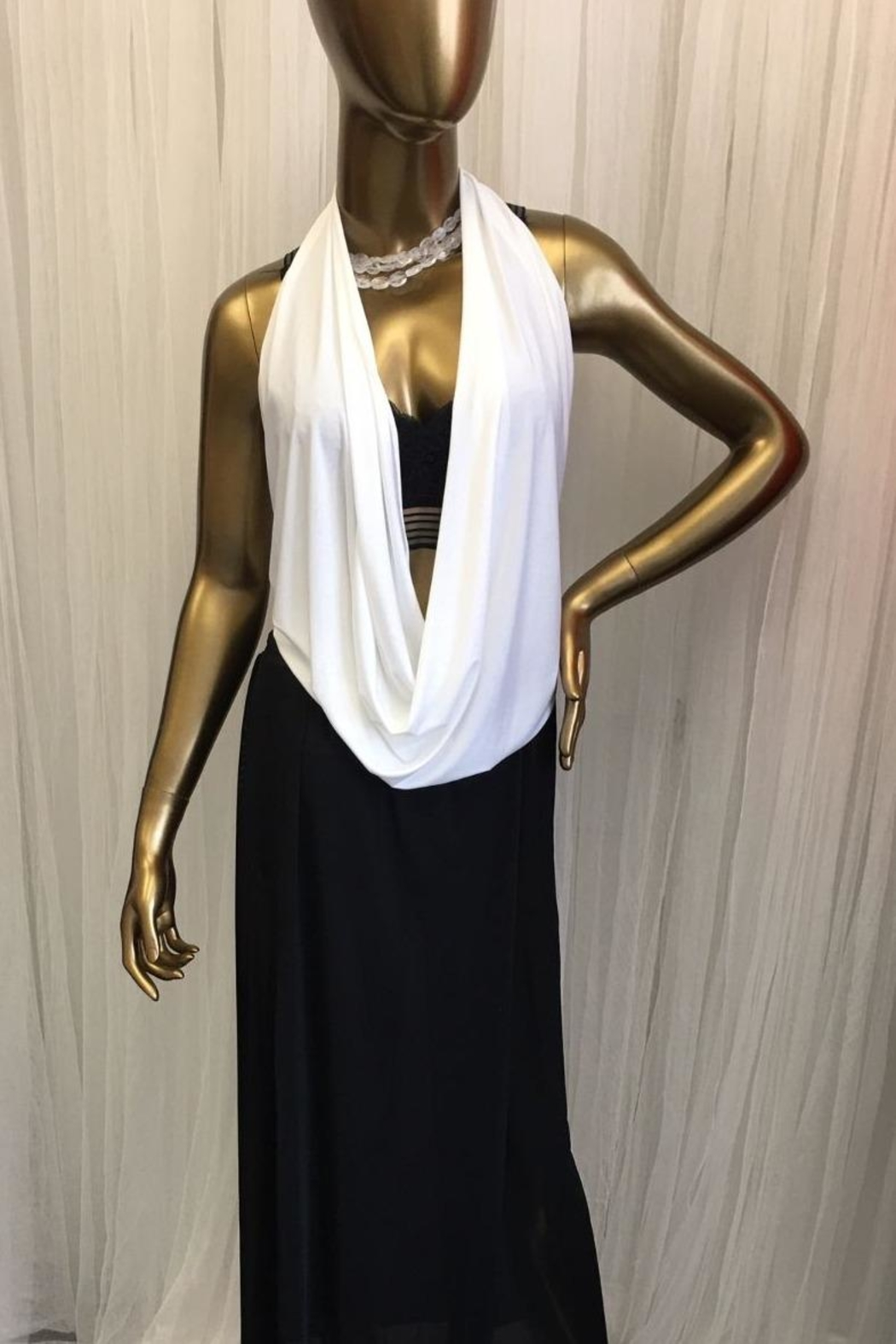 tu-anh boutique White Halter Top - Main Image