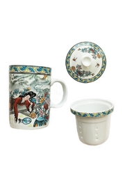 tu-anh boutique White Jade Teapot - Front full body