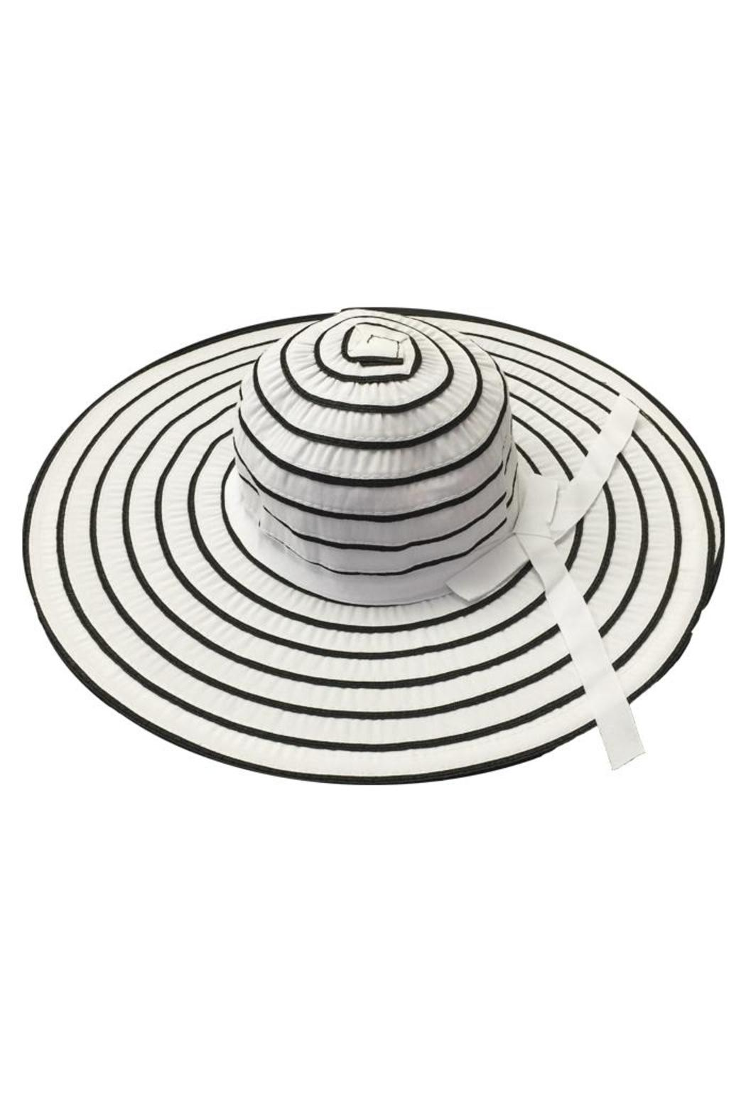 tu-anh boutique White Stripe Sunhat - Front Cropped Image