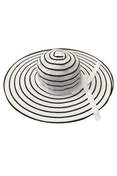 tu-anh boutique White Stripe Sunhat - Product List Image