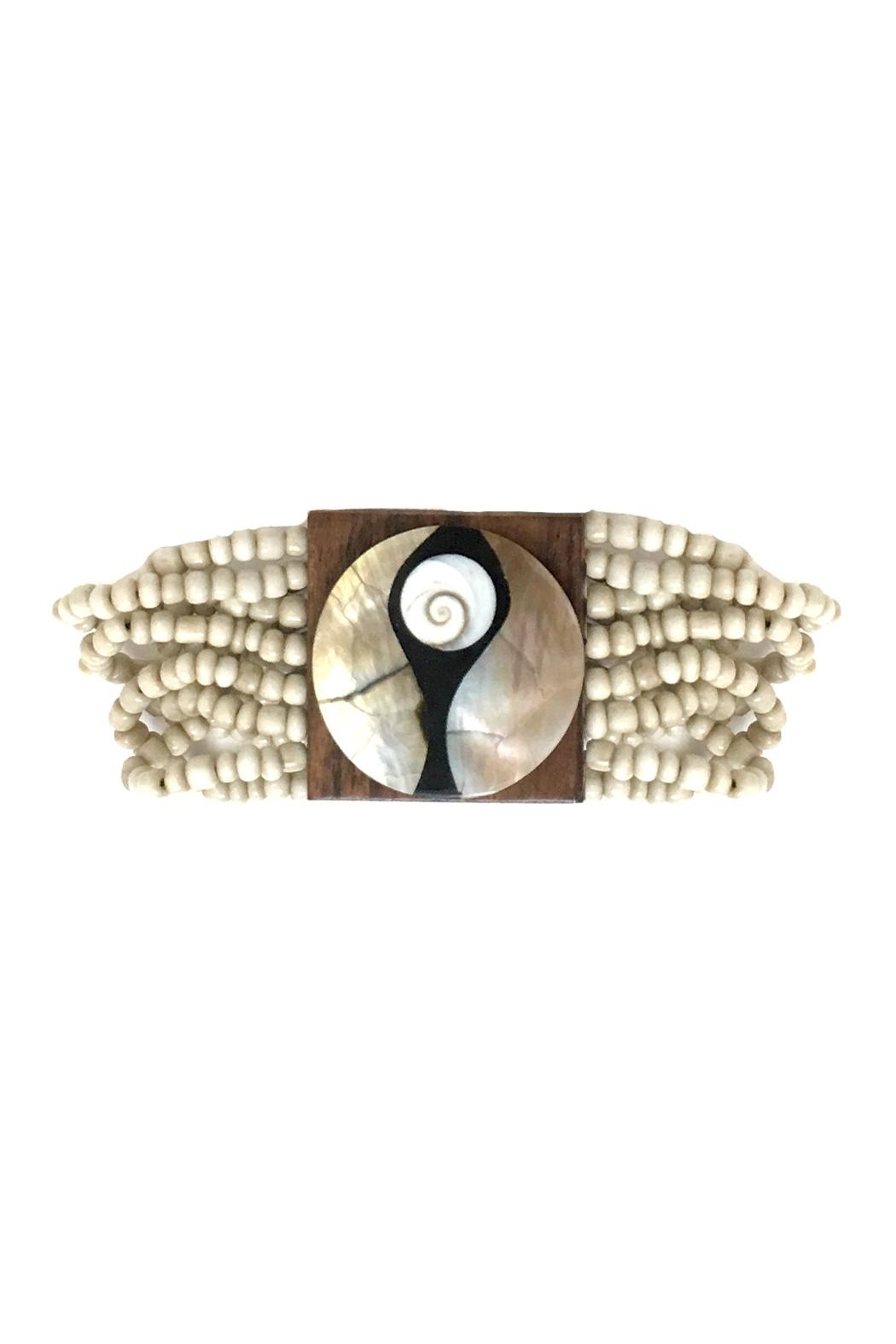 tu-anh boutique Wooden Pearl Bracelets - Front Cropped Image