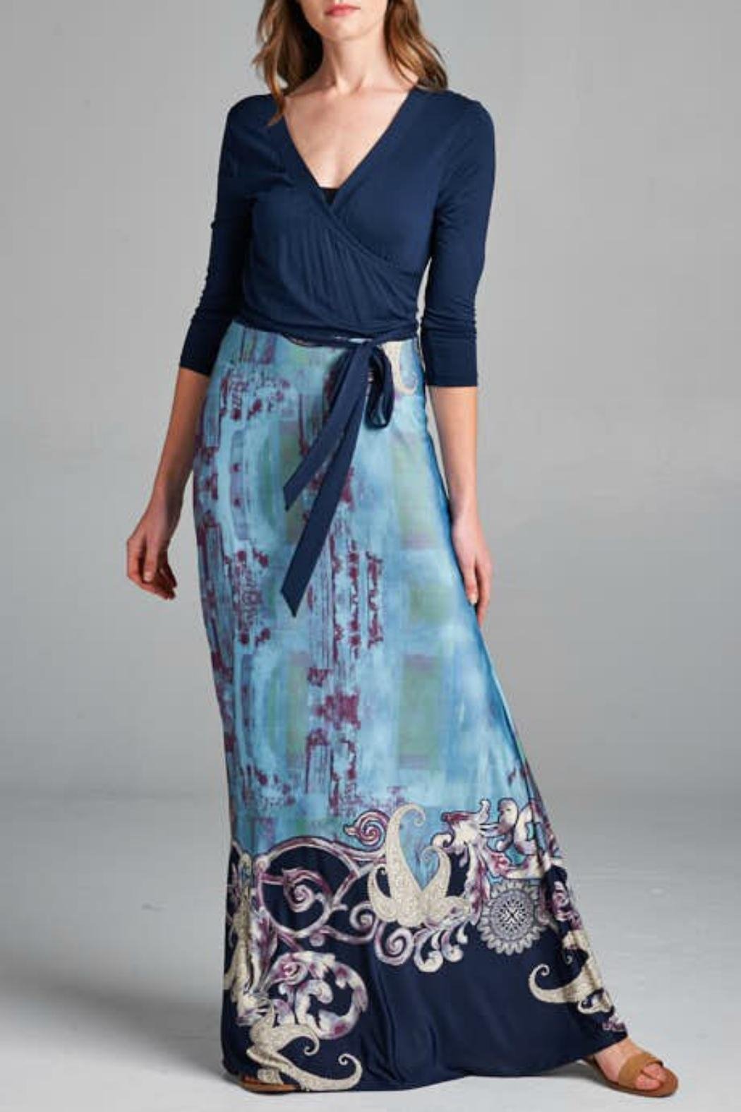 c1acc036c8b tua Blue-Paisley Faux-Wrap Maxi-Dress from Alaska by Apricot Lane ...