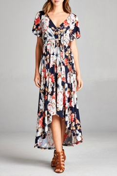 Shoptiques Product: Floral Faux-Wrap Dress