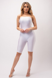 Boswell Fashion Tube Biker Romper - Front cropped