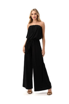 Ariella Tube Jumpsuit With Braided Belt - Product List Image