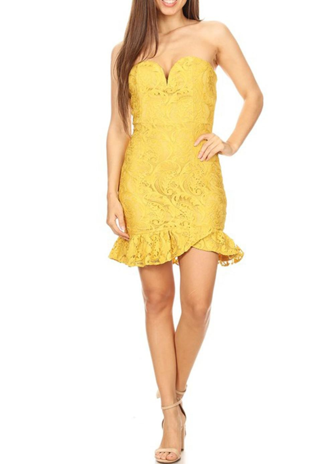 shop 17 Tube Top Dress - Front Cropped Image