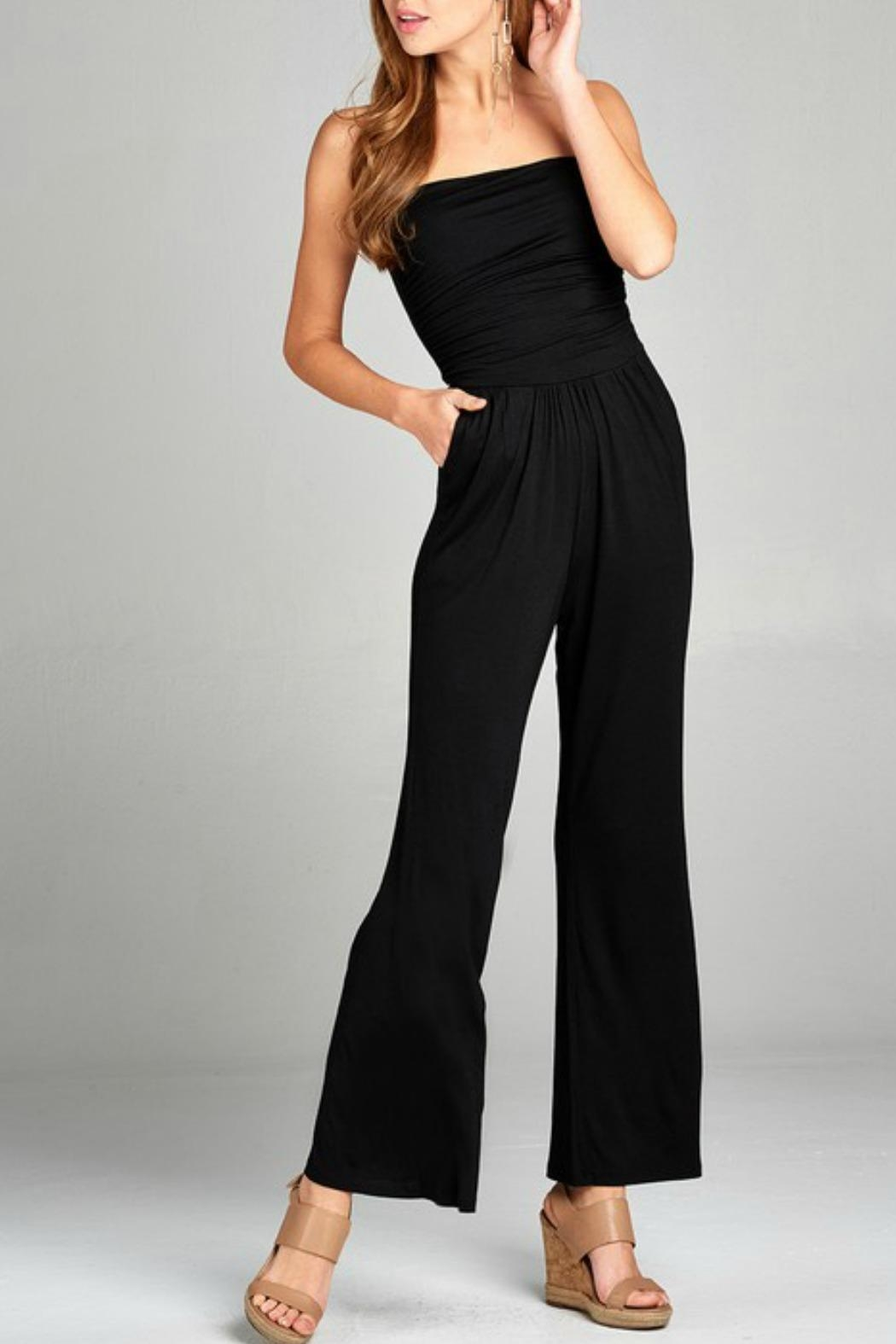 ee95713b43cf7 Active Basic Tube Top Jumpsuit from Brooklyn by Polly   Esther ...