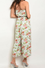 Available Tube-Top Smock-Waist Jumpsuit - Front full body