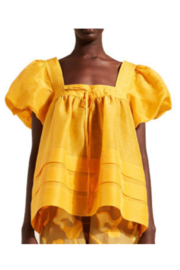 Lee Mathews TUCKED PUFF TOP - Front cropped
