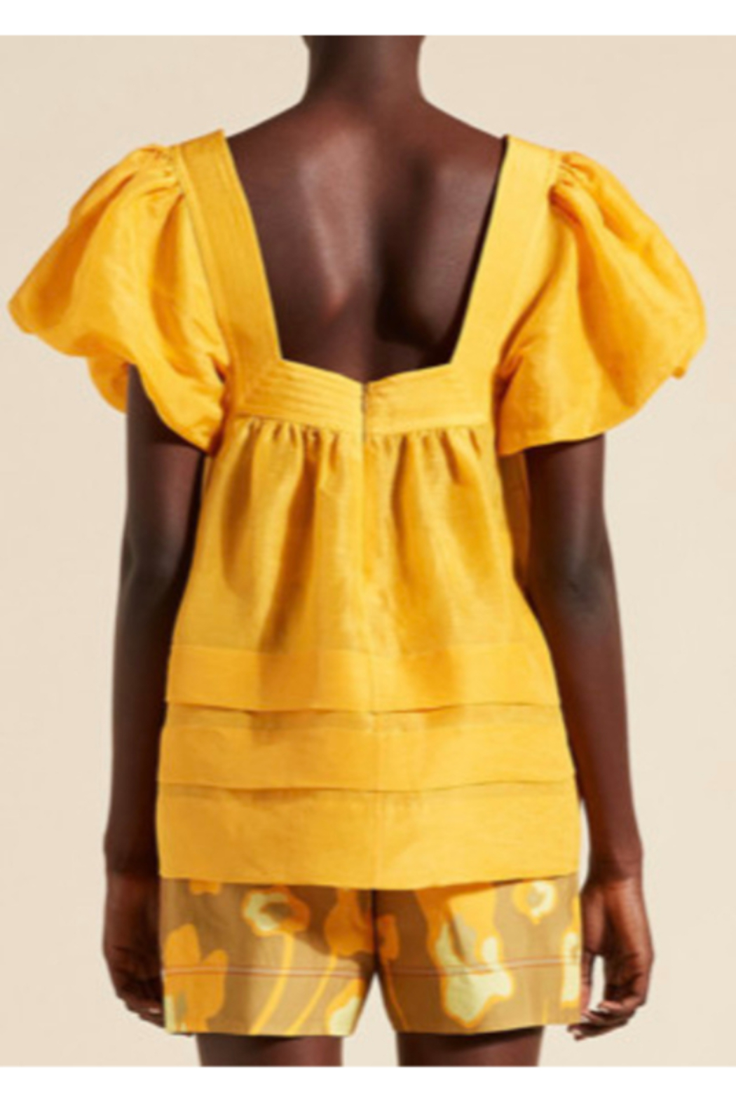 Lee Mathews TUCKED PUFF TOP - Side Cropped Image