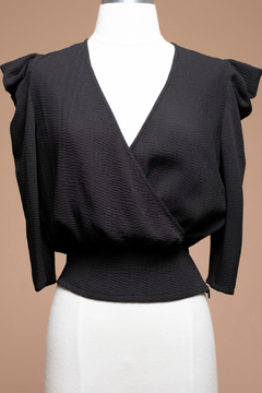 Shoptiques Product: Tucked sleeve wrap top