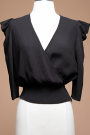 Moon River Tucked sleeve wrap top - Product Mini Image